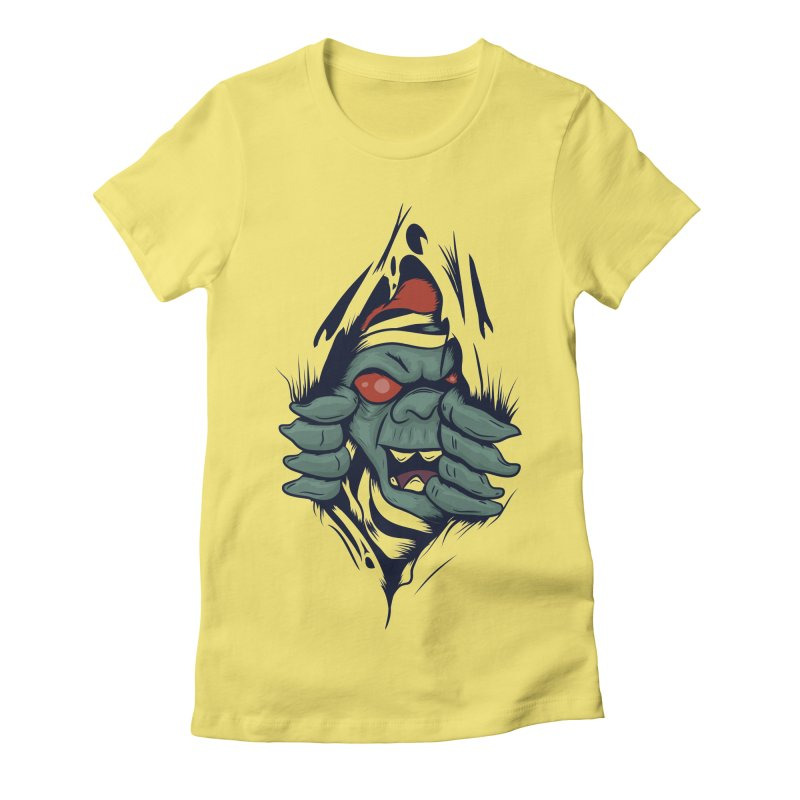 Espiritus del mas alla Women's Fitted T-Shirt by damian's Artist Shop