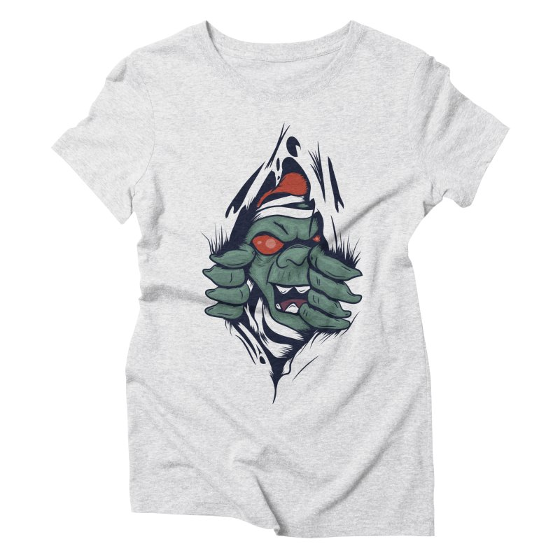 Espiritus del mas alla Women's Triblend T-Shirt by damian's Artist Shop