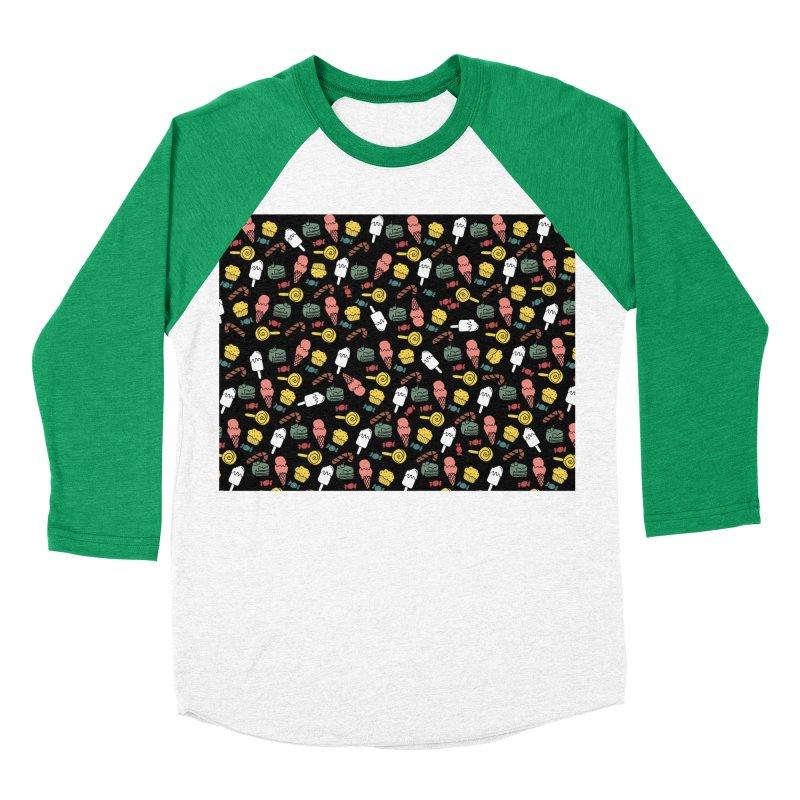 dulces Women's Baseball Triblend Longsleeve T-Shirt by damian's Artist Shop