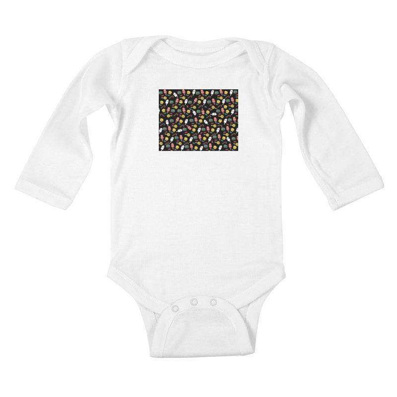 dulces Kids Baby Longsleeve Bodysuit by damian's Artist Shop