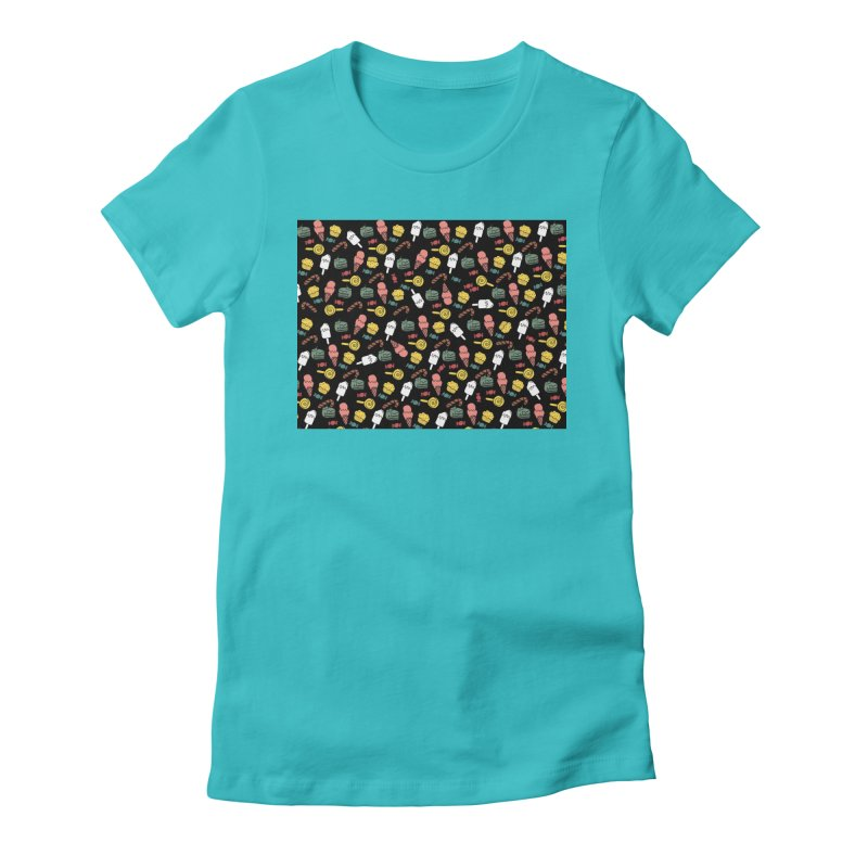 dulces Women's Fitted T-Shirt by damian's Artist Shop