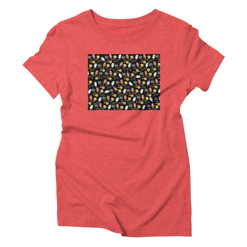 dulces Women's Triblend T-Shirt by damian's Artist Shop