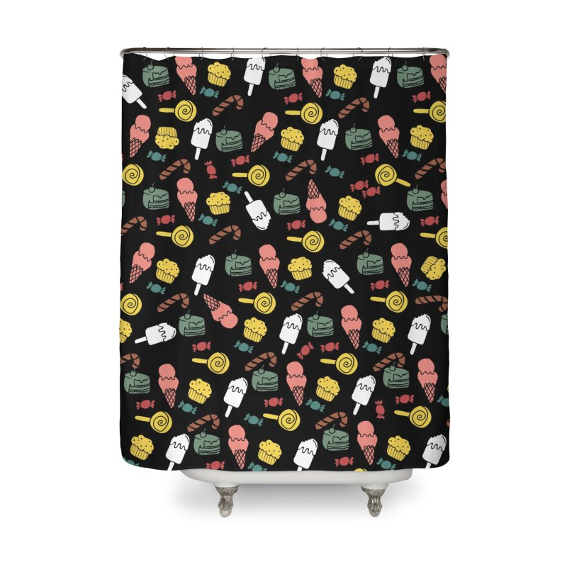 dulces Home Shower Curtain by damian's Artist Shop