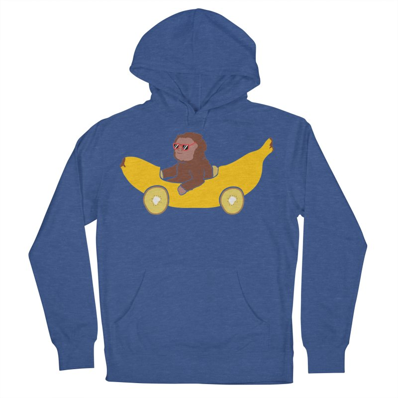 Banana Car Women's French Terry Pullover Hoody by damian's Artist Shop