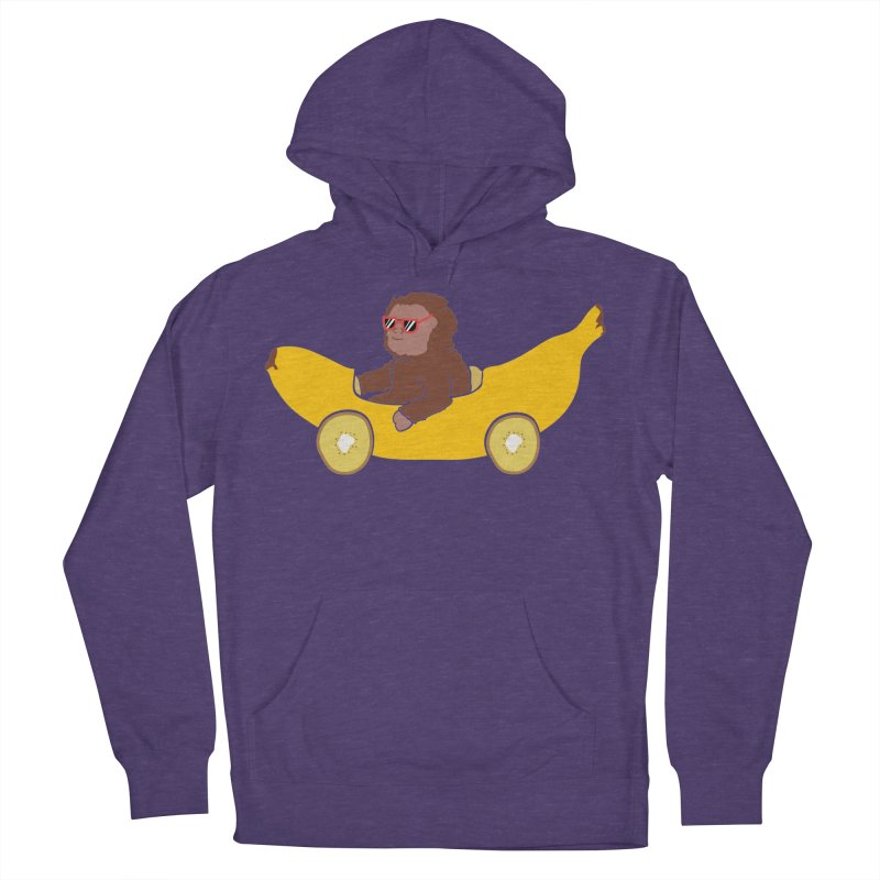 Banana Car Men's French Terry Pullover Hoody by damian's Artist Shop