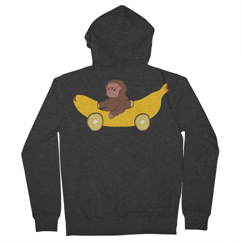 Banana Car Women's French Terry Zip-Up Hoody by damian's Artist Shop