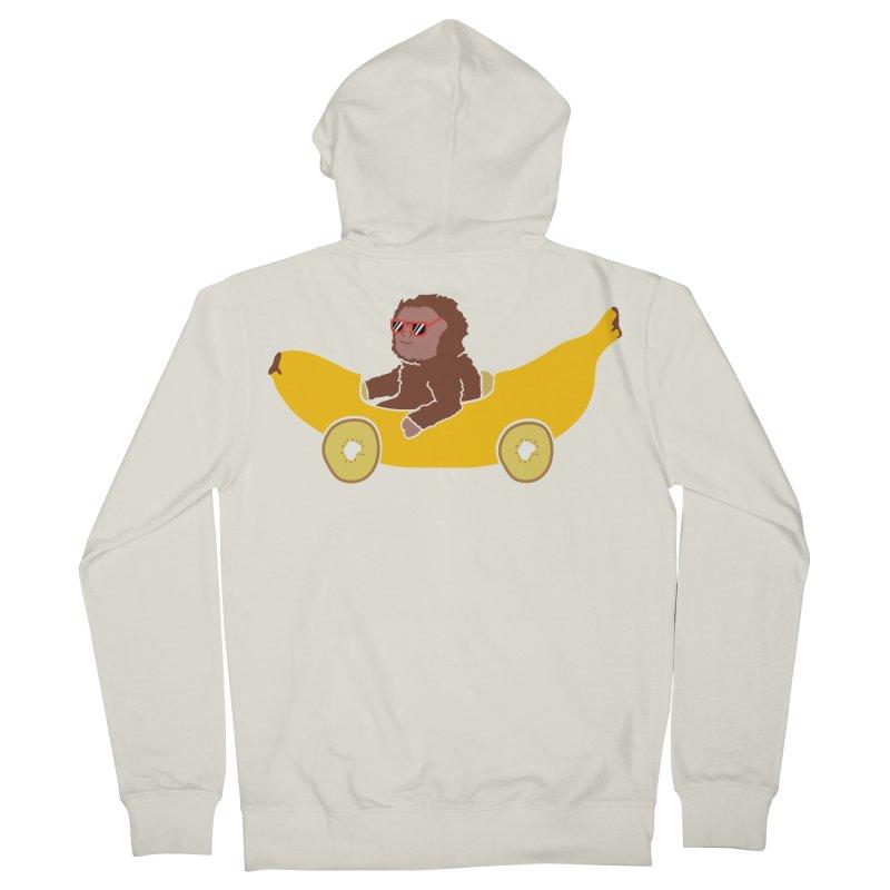 Banana Car Men's French Terry Zip-Up Hoody by damian's Artist Shop