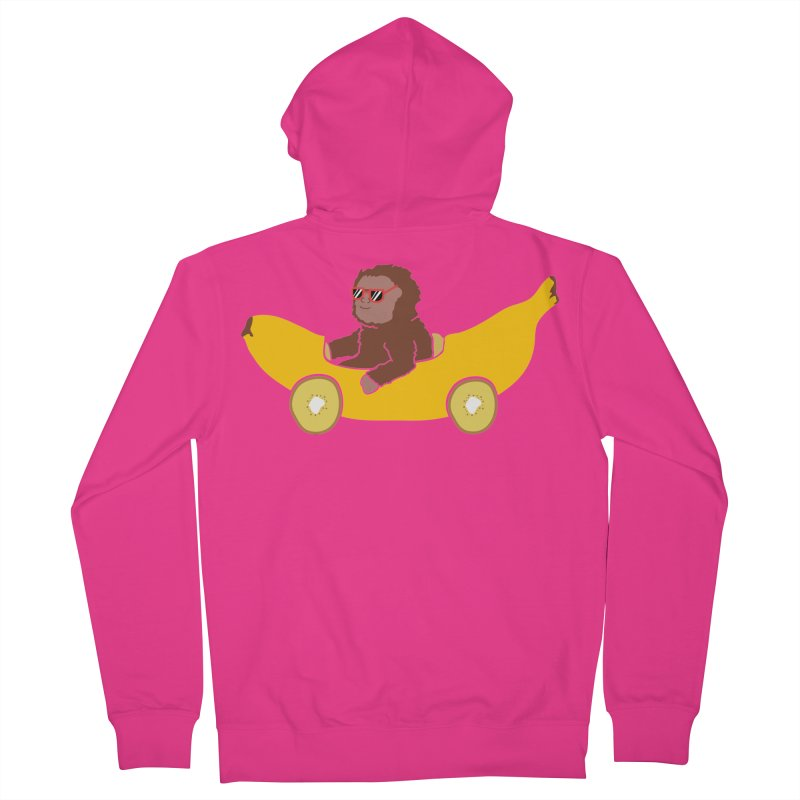 Banana Car Men's French Terry Zip-Up Hoody by damian's Artist Shop