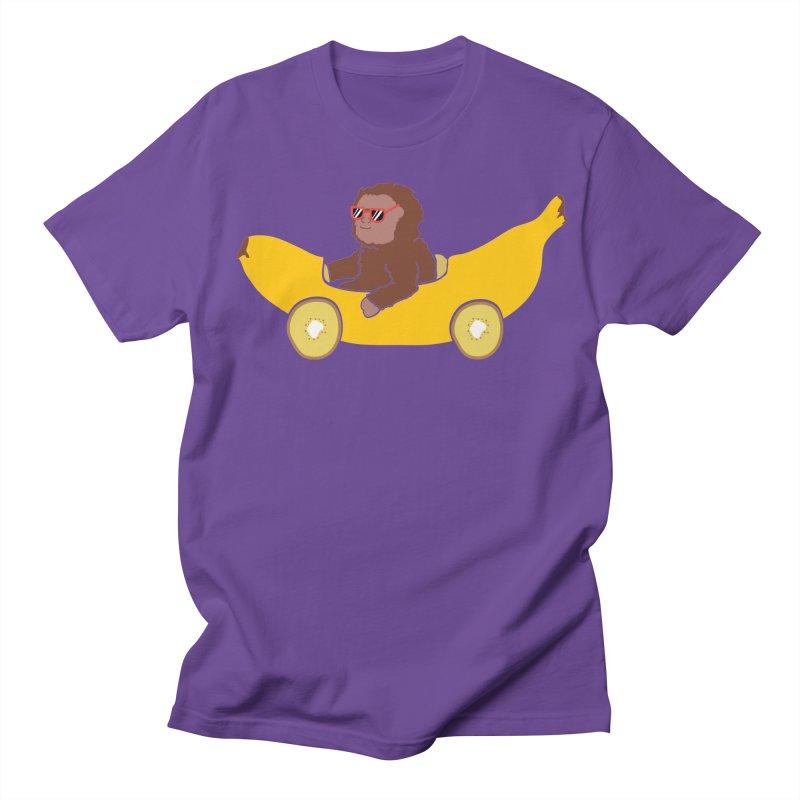 Banana Car Women's Regular Unisex T-Shirt by damian's Artist Shop