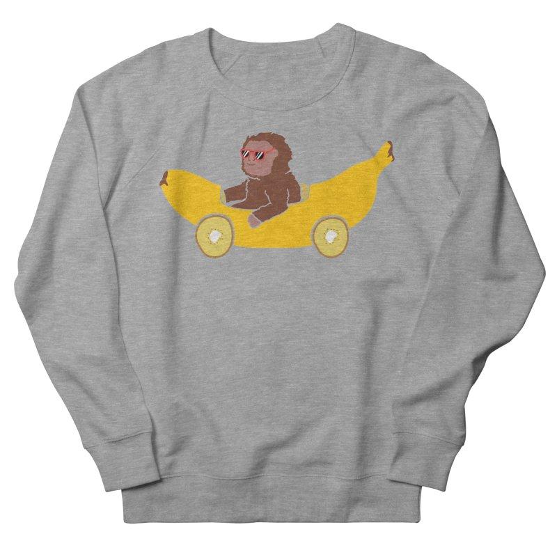 Banana Car Women's French Terry Sweatshirt by damian's Artist Shop