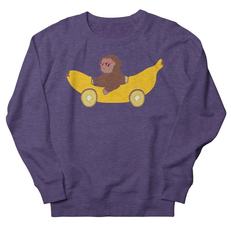 Banana Car Men's French Terry Sweatshirt by damian's Artist Shop