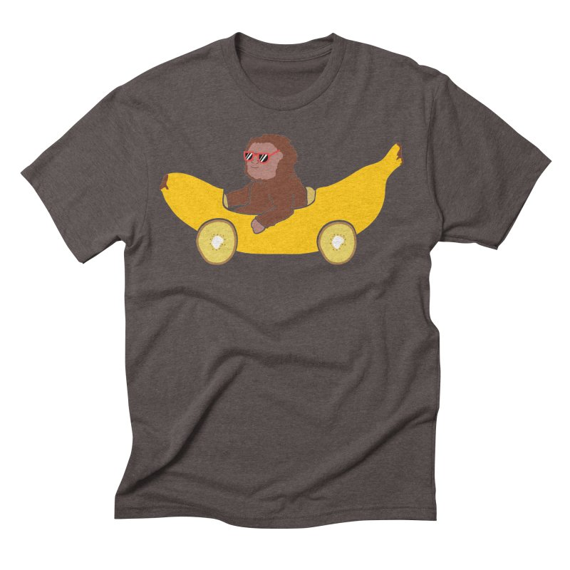 Banana Car Men's Triblend T-Shirt by damian's Artist Shop