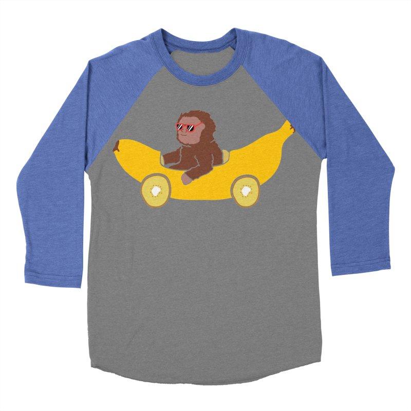 Banana Car Women's Baseball Triblend Longsleeve T-Shirt by damian's Artist Shop