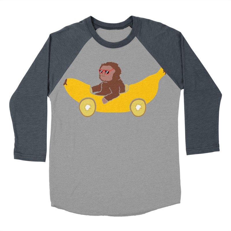Banana Car Men's Baseball Triblend T-Shirt by damian's Artist Shop