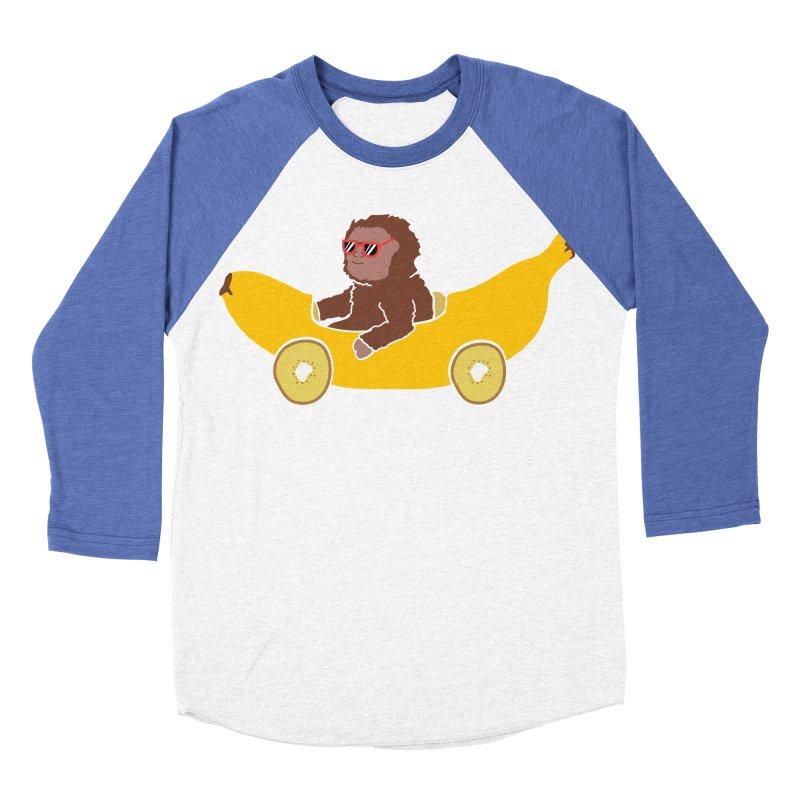 Banana Car Men's Baseball Triblend Longsleeve T-Shirt by damian's Artist Shop