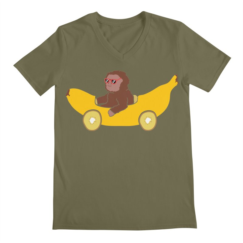 Banana Car Men's V-Neck by damian's Artist Shop