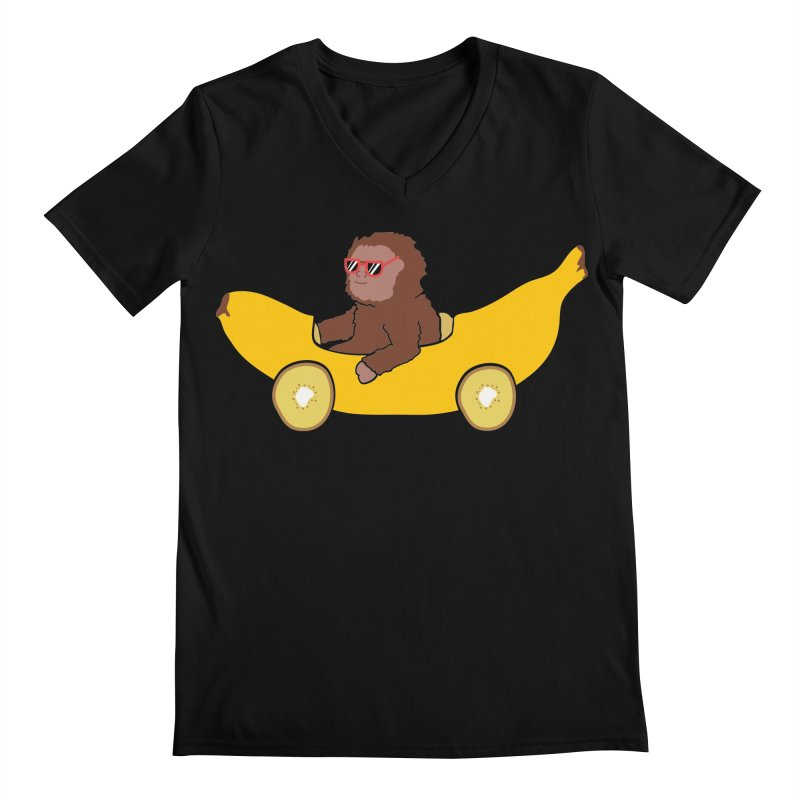 Banana Car Men's Regular V-Neck by damian's Artist Shop