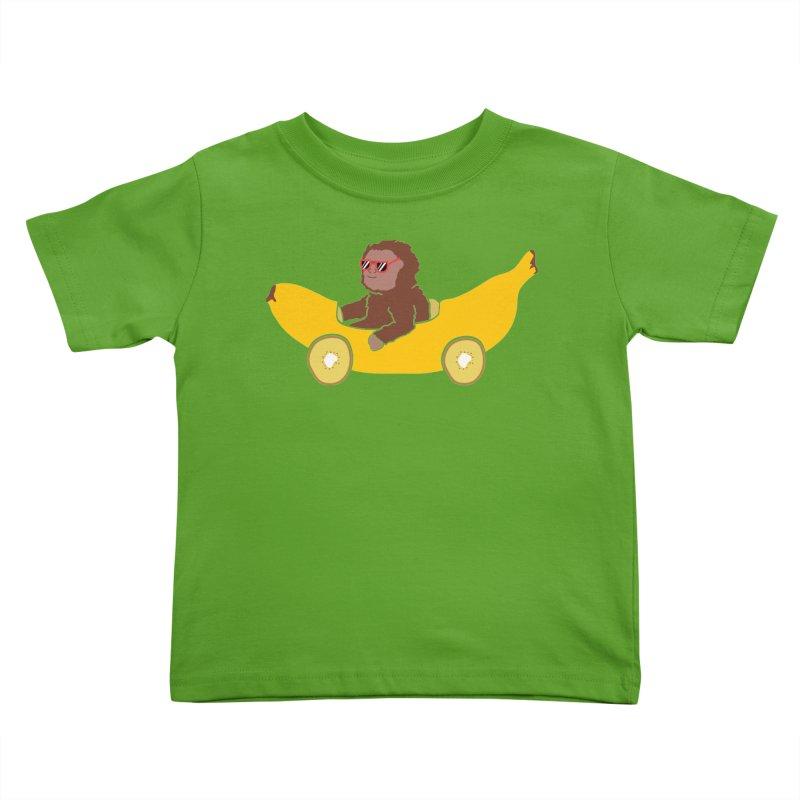 Banana Car Kids Toddler T-Shirt by damian's Artist Shop