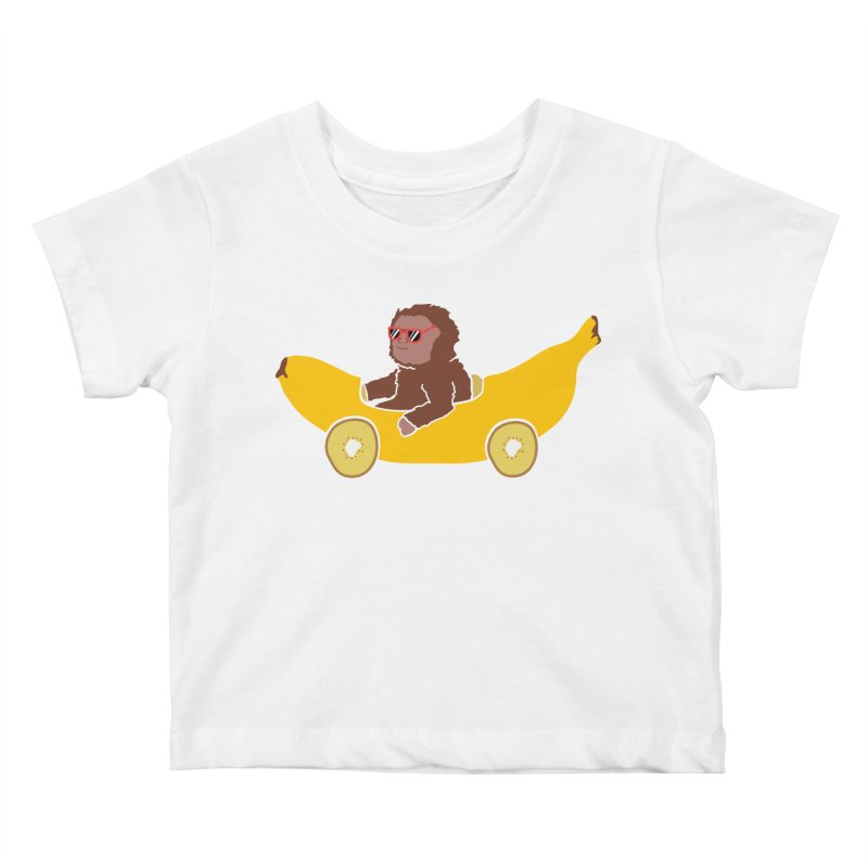 Banana Car Kids Baby T-Shirt by damian's Artist Shop