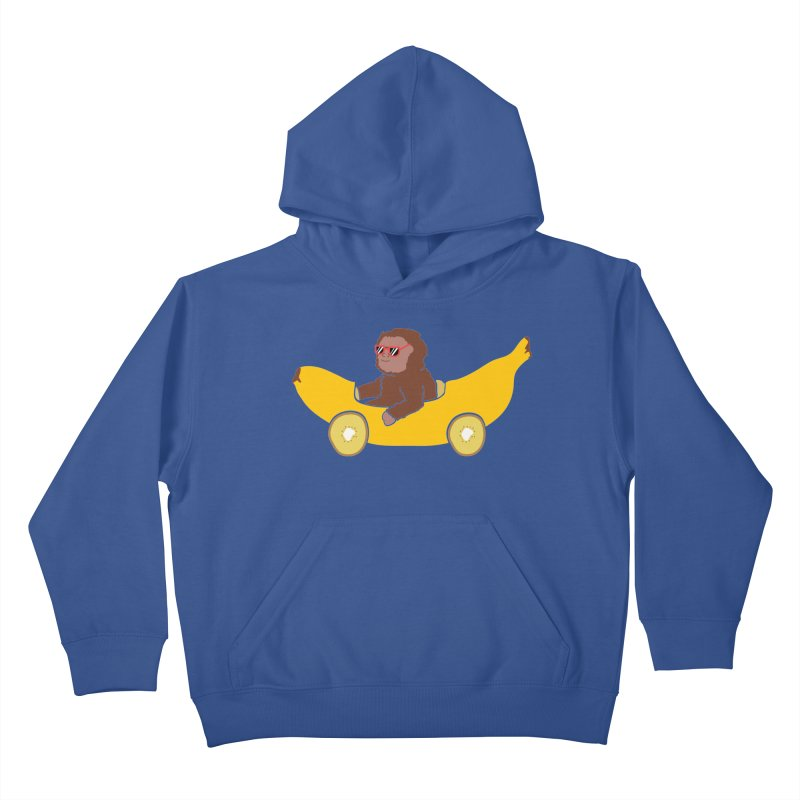 Banana Car Kids Pullover Hoody by damian's Artist Shop