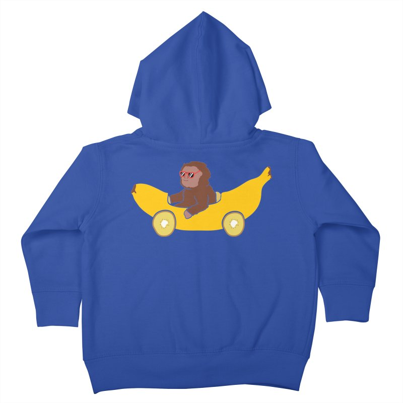 Banana Car Kids Toddler Zip-Up Hoody by damian's Artist Shop