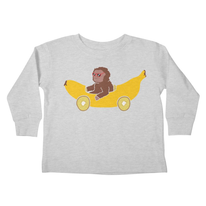 Banana Car Kids Toddler Longsleeve T-Shirt by damian's Artist Shop