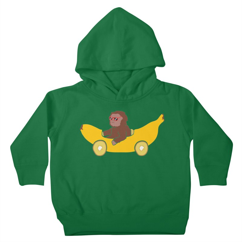 Banana Car Kids Toddler Pullover Hoody by damian's Artist Shop