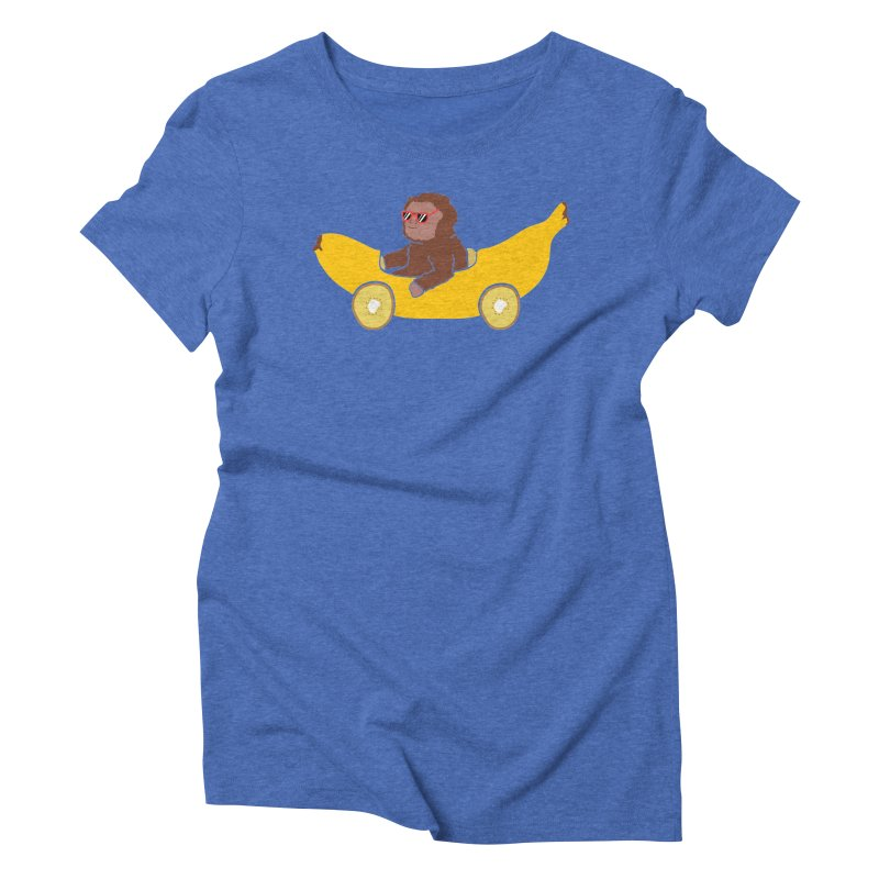 Banana Car Women's Triblend T-Shirt by damian's Artist Shop