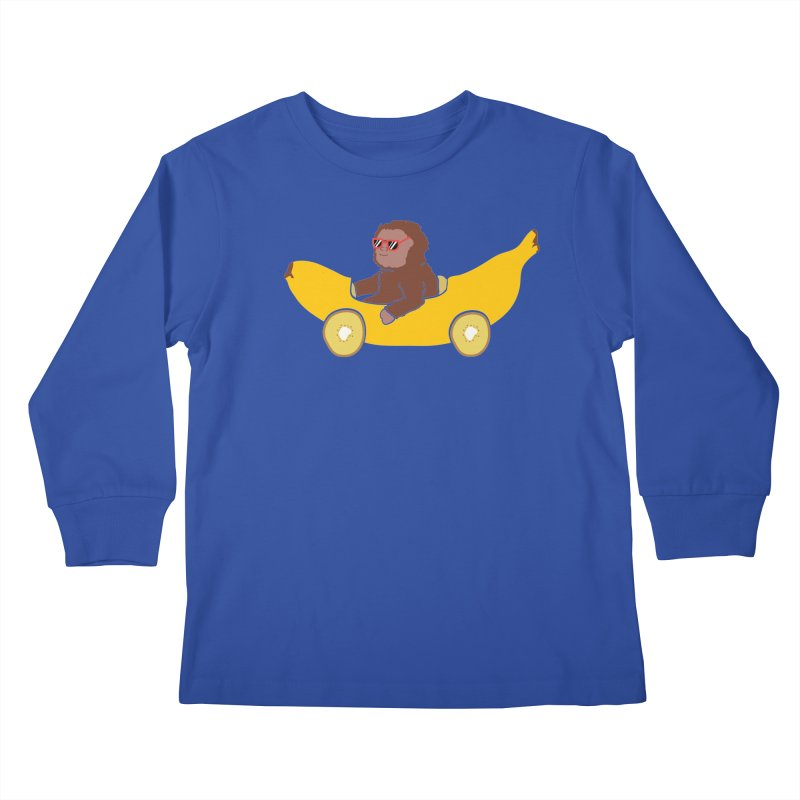 Banana Car Kids Longsleeve T-Shirt by damian's Artist Shop