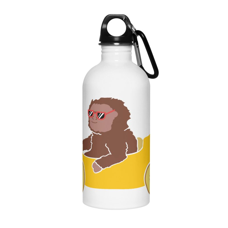 Banana Car Accessories Water Bottle by damian's Artist Shop