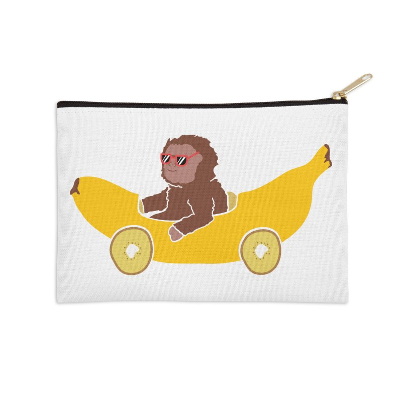 Banana Car Accessories Zip Pouch by damian's Artist Shop