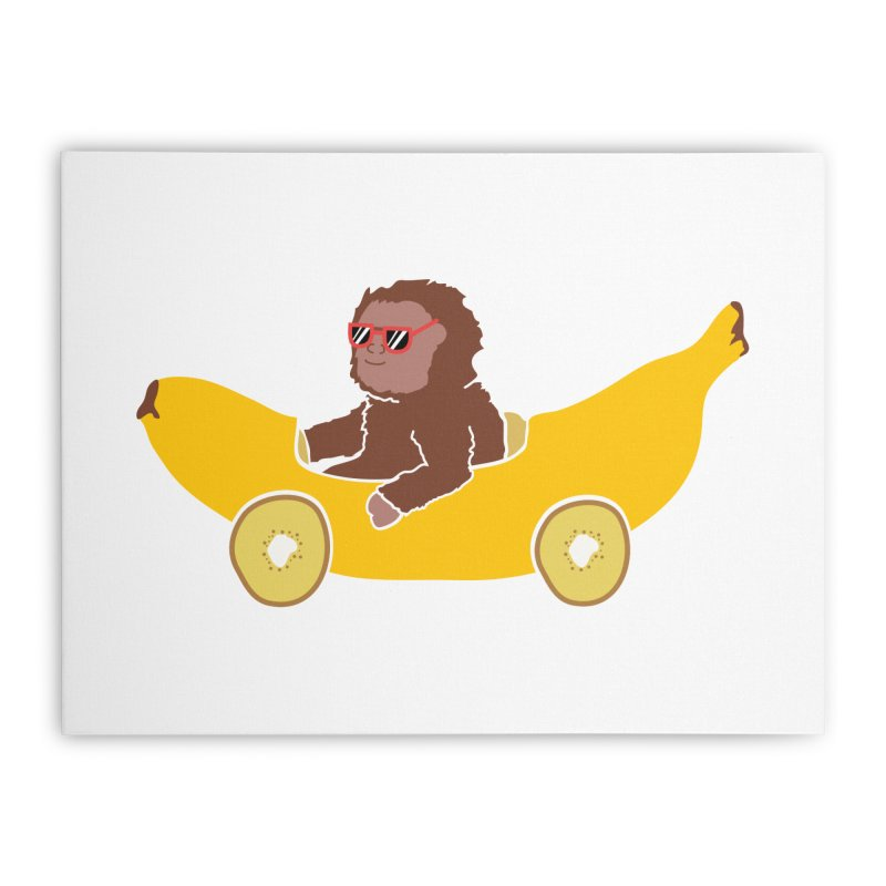 Banana Car Home Stretched Canvas by damian's Artist Shop