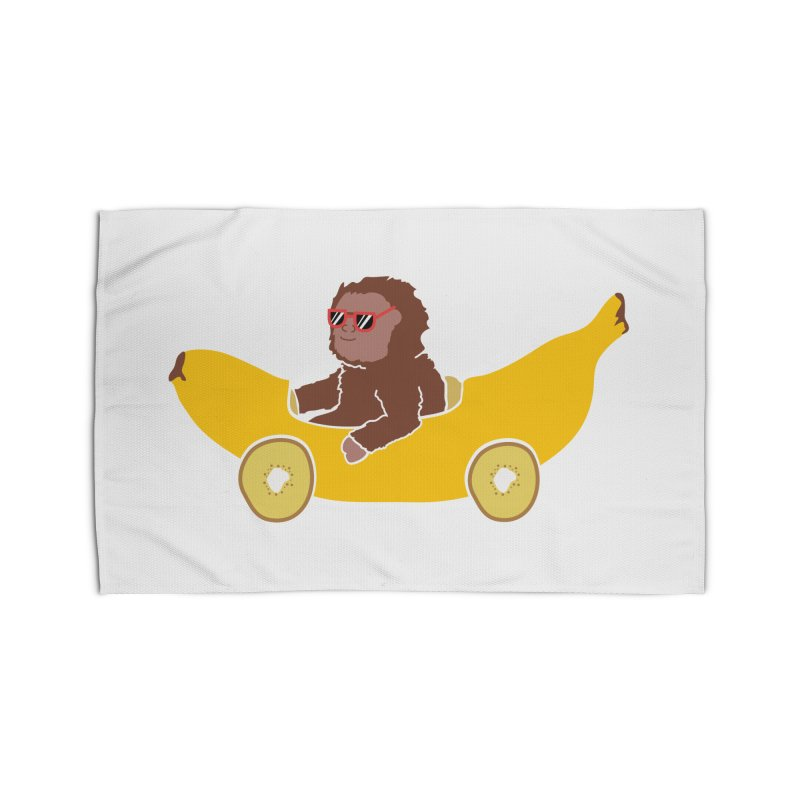Banana Car Home Rug by damian's Artist Shop