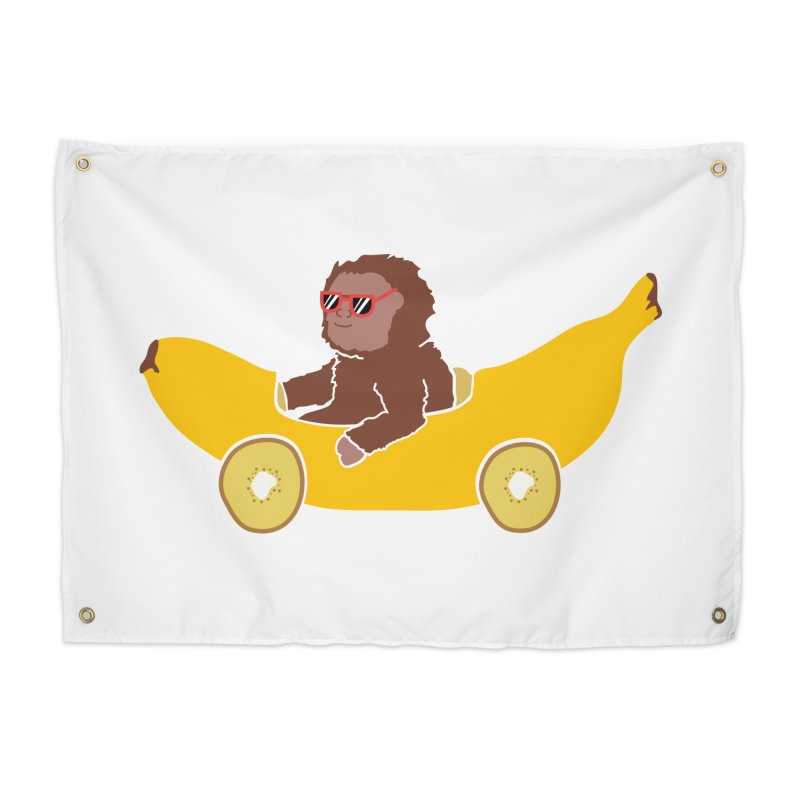 Banana Car Home Tapestry by damian's Artist Shop