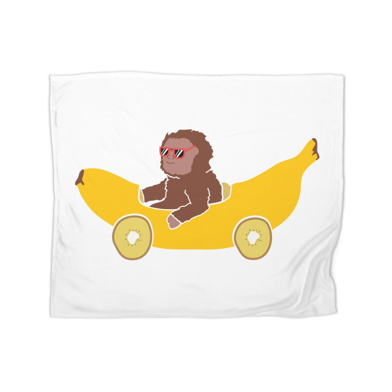 Banana Car Home Fleece Blanket Blanket by damian's Artist Shop