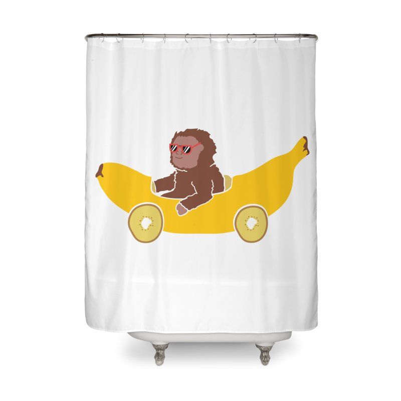 Banana Car Home Shower Curtain by damian's Artist Shop
