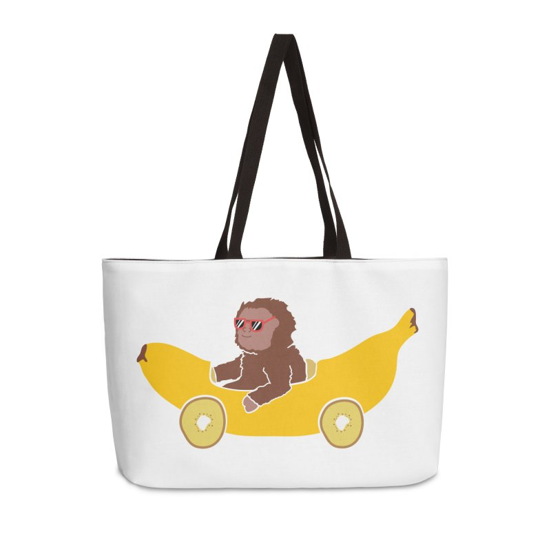 Banana Car Accessories Weekender Bag Bag by damian's Artist Shop