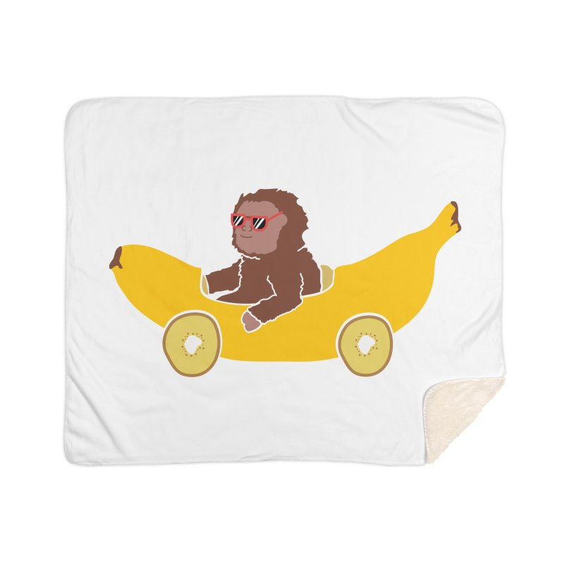Banana Car Home Sherpa Blanket Blanket by damian's Artist Shop