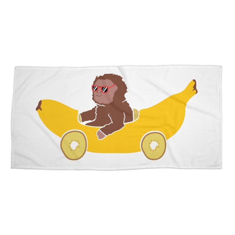 Banana Car Accessories Beach Towel by damian's Artist Shop