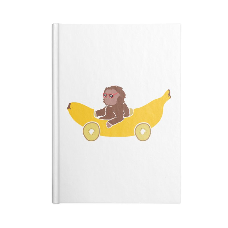 Banana Car Accessories Blank Journal Notebook by damian's Artist Shop
