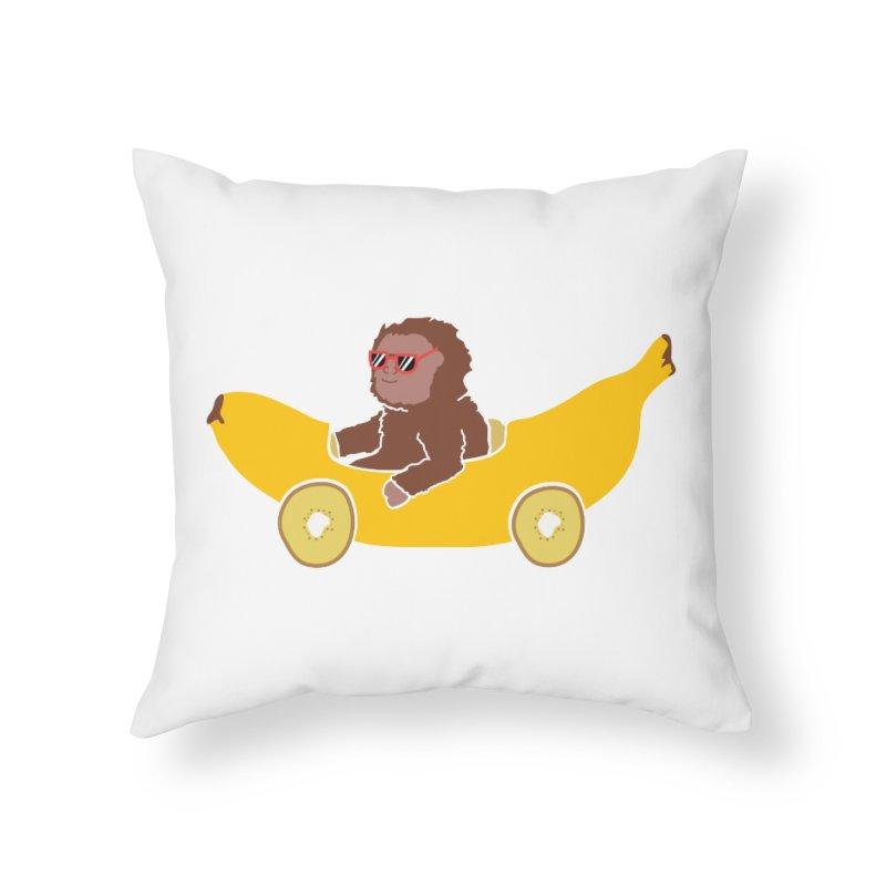 Banana Car Home Throw Pillow by damian's Artist Shop