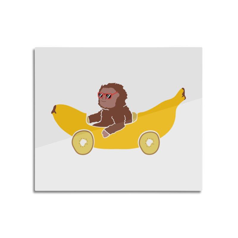 Banana Car Home Mounted Acrylic Print by damian's Artist Shop