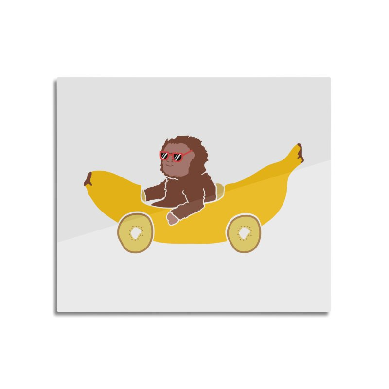 Banana Car Home Mounted Aluminum Print by damian's Artist Shop