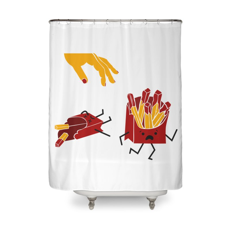 Corre por tú Vida Home Shower Curtain by damian's Artist Shop