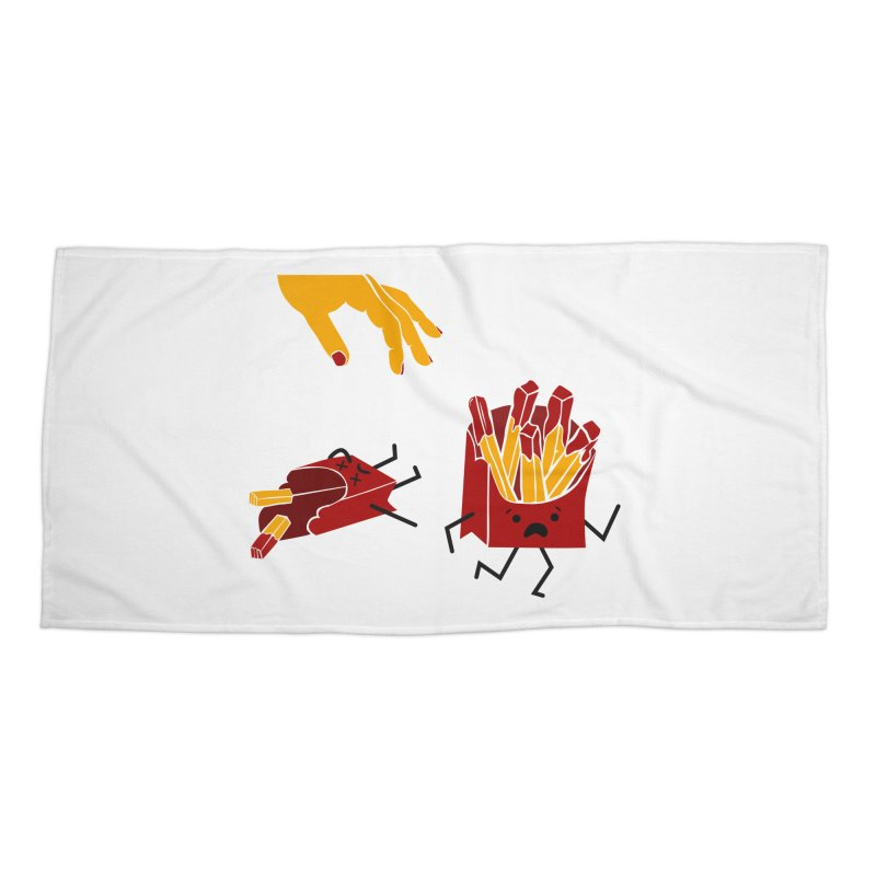 Corre por tú Vida Accessories Beach Towel by damian's Artist Shop