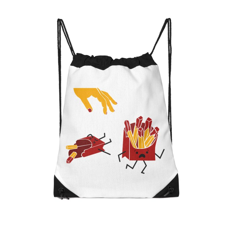 Corre por tú Vida Accessories Drawstring Bag Bag by damian's Artist Shop