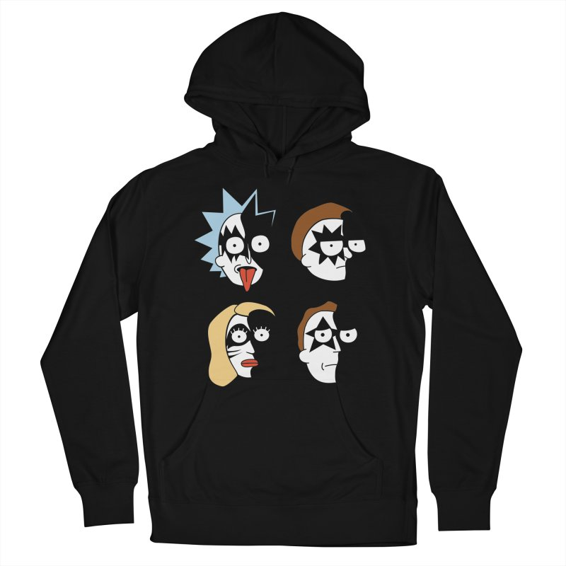faces Women's French Terry Pullover Hoody by damian's Artist Shop