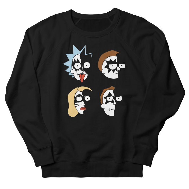 faces Men's French Terry Sweatshirt by damian's Artist Shop