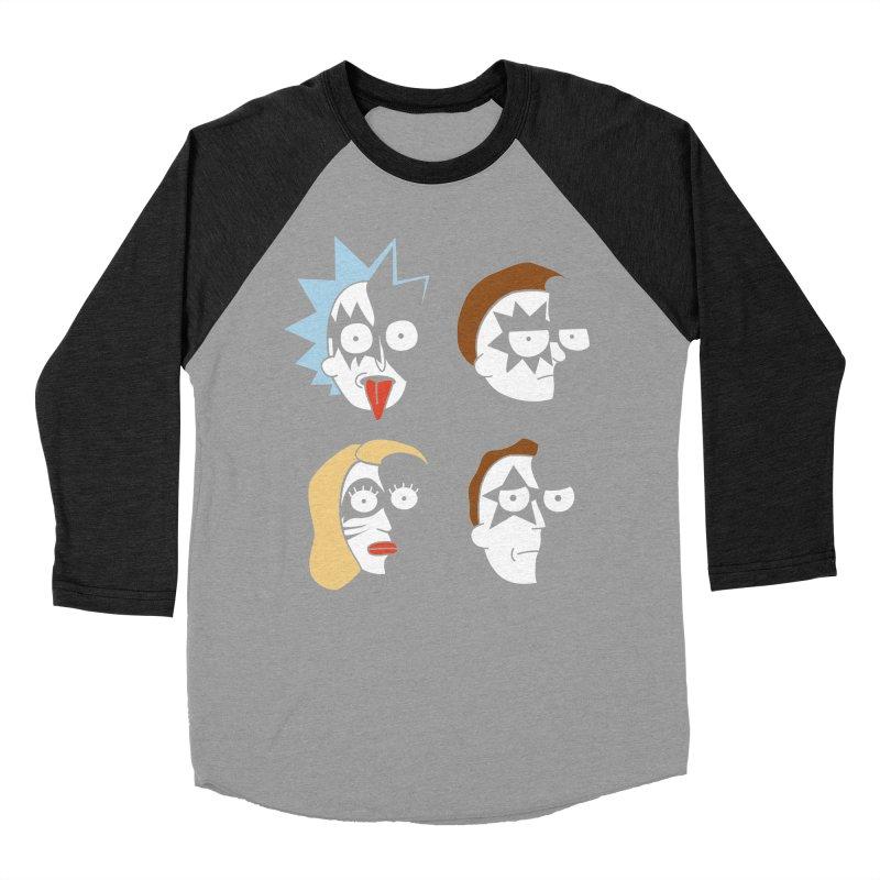 faces Women's Baseball Triblend Longsleeve T-Shirt by damian's Artist Shop