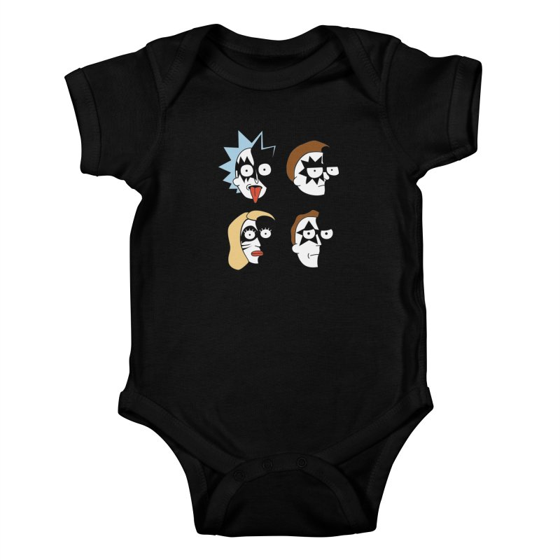 faces Kids Baby Bodysuit by damian's Artist Shop